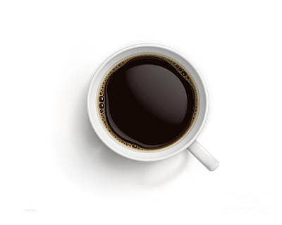 Black Coffee Print by Cheryl Young