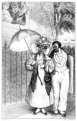 Liberating Painting - Black Couple, 1832 by Granger