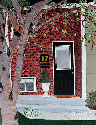 Black Door  Print by Barbara Griffin