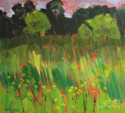 Black Eye Susan Painting - Black Eyed Susans by Charlie Spear
