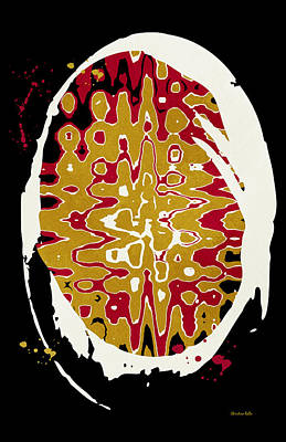 Splats Painting - Black Gold Abstract Art by Christina Rollo