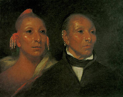 Black History Painting - Black Hawk And His Son Whirling Thunder by John Wesley Jarvis