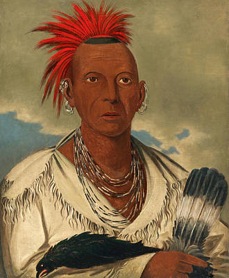 George Catlin Painting - Black Hawk. Prominent Sauk Chief. Sauk And Fox by George Catlin