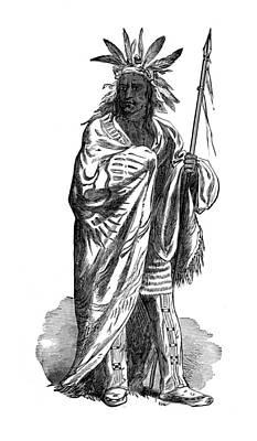 Black Hawk, Sauk Indian Leader Print by British Library