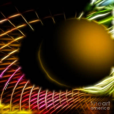 Black Hole Print by Cheryl Young
