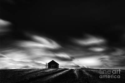 Alberta Prairie Landscape Photograph - Black House by Dan Jurak