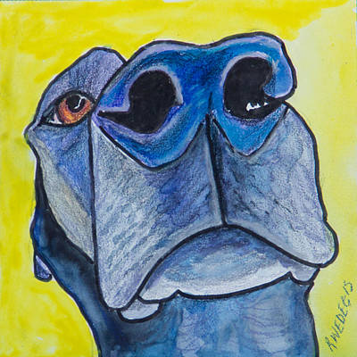 Dogs Painting - Black Lab Nose by Roger Wedegis