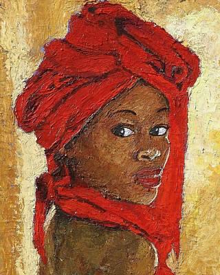 Black Lady No. 12 Print by Janet Ashworth