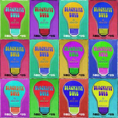 Black Light Bulbs Poster Original by Tony Rubino