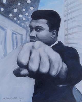 Muhammad Ali Print by Agnieszka Praxmayer