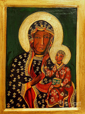Ikon Painting - Black Madonna Of Czestochowa Icon by Ryszard Sleczka