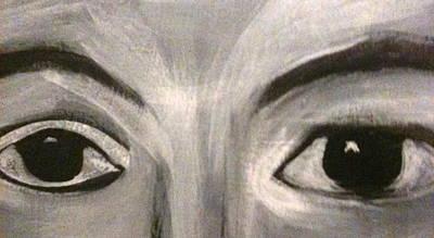 Painting - Black N White Eyes by Juliann Sweet