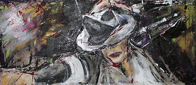 Michael Jackson Painting - Black Or White by Lucy Matta