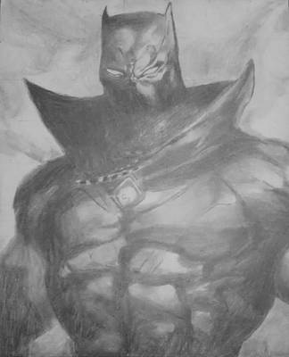 Bear Paw Drawing - Black Panther by Milton  Gore