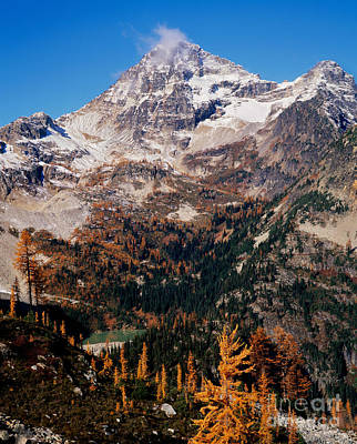 Black Peak Above Maple Pass Print by Tracy Knauer