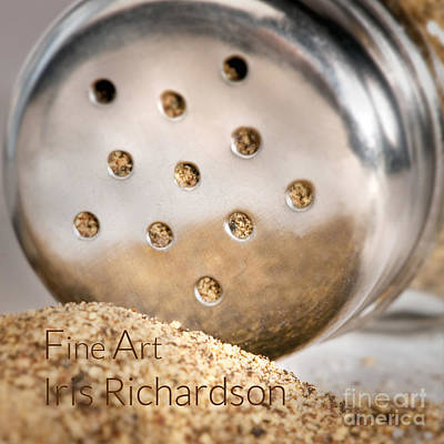 Owner Photograph - Black Pepper Shaker With Pour by Iris Richardson