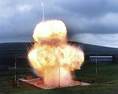 Black Powder Explosion Print by Crown Copyright/health & Safety Laboratory Science Photo Library