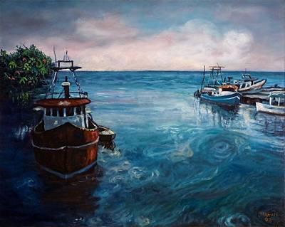 Jamaican Art Painting - Black River 2 by Ewan  McAnuff