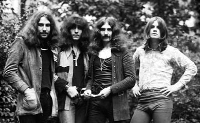 Black Sabbath 1970 Print by Chris Walter