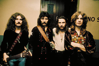 Black Sabbath 1972 Print by Chris Walter