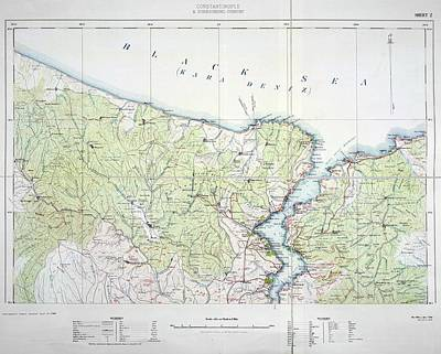 Cartography Photograph - Black Sea by British Library