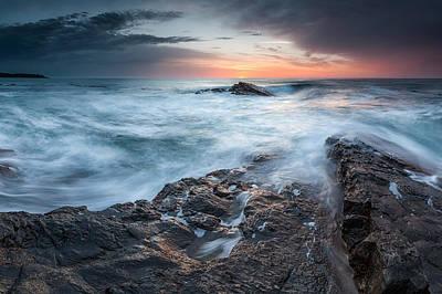 Strandzha Photograph - Black Sea Rocks by Evgeni Dinev