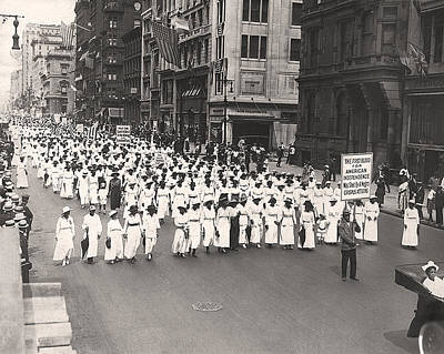 1910s Photograph - Black Silent Protest March by Underwood Archives
