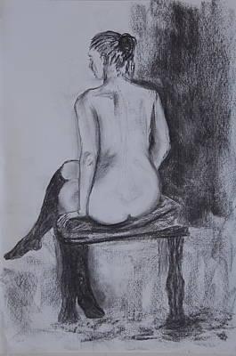 Black Stockings Print by Jolanta Benson