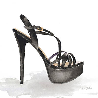 Stilettos Painting - Black Tie Stiletto by Lanie Loreth