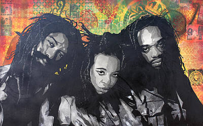 Black Uhuru Print by Josh Cardinali
