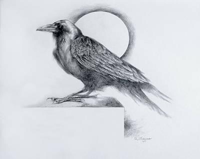Blackbird Drawing - Black Watch by Derrick Higgins