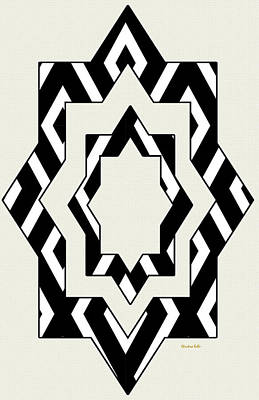 Digital Art - Black White Pattern Art by Christina Rollo