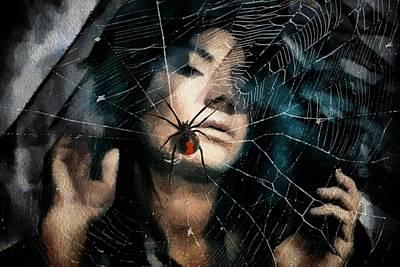 Face Digital Art - Black Widow by Gun Legler