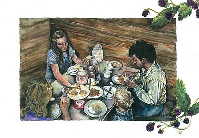 Depression Painting - Blackberry Jam by Kim Whitton