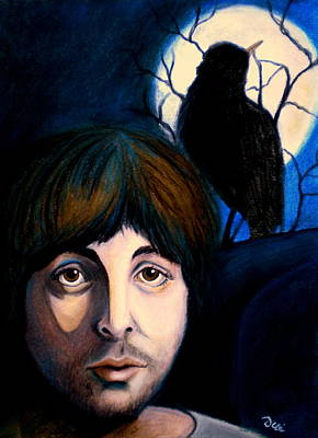 Ringo Painting - Blackbird by Debi Starr