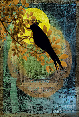 Gillian Digital Art - Blackbird by Gillian Singleton