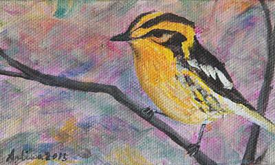 Blackburnian Warbler - Birds In The Wild Original by Arlissa Vaughn