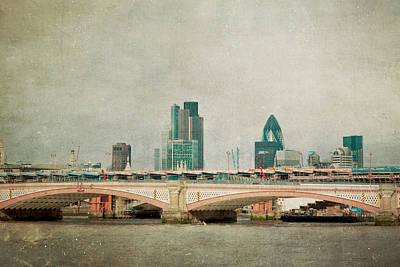 Blackfriars Bridge Print by Violet Gray
