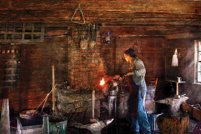 Blacksmith - Cooking With The Smith's  Print by Mike Savad