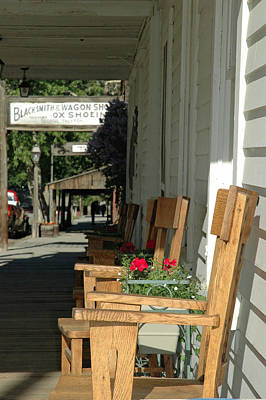 Blacksmith Shop On The Boardwalk Of Virginia City Montana Print by Bruce Gourley