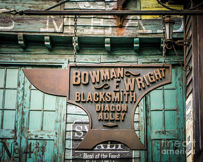Blacksmith Sign Print by Perry Webster
