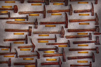 Blacksmith - Tools - Pounding Headache  Print by Mike Savad
