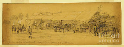 The General Lee Drawing - Blacksmiths Department Hd. Qts by Celestial Images