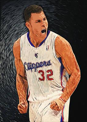 Los Angeles Clippers Digital Art - Blake Griffin by Taylan Apukovska
