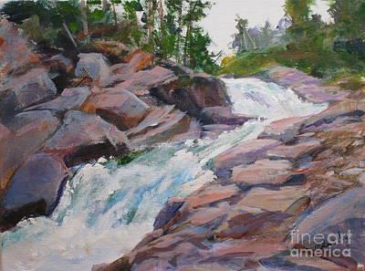 Blakiston Falls Original by Mohamed Hirji