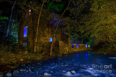 Old Mill Scenes Photograph - Blanchard's Mill by Keith Kapple