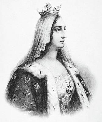 Tiara Painting - Blanche Of Castile (1188-1252) by Granger