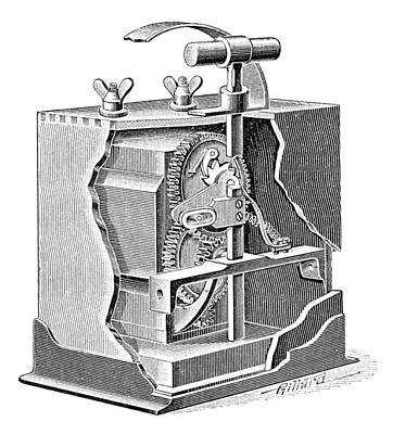 Blasting Trigger Mechanism, Artwork Print by Science Photo Library