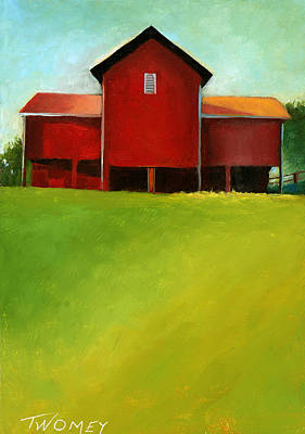 Farm Fields Painting - Bleak House Barn 2 by Catherine Twomey