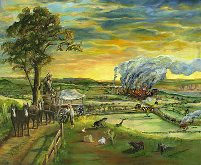 Retrievers Painting - Bleeding Kansas - A Life And Nation Changing Event by Mary Ellen Anderson